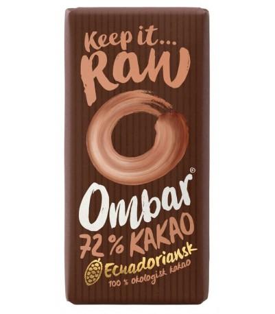 Ombar mørk 72% Øko chokolade