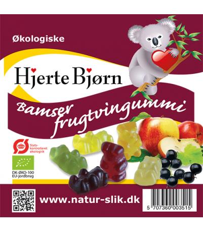 Øko frugtvingummi Bamser 100 gr
