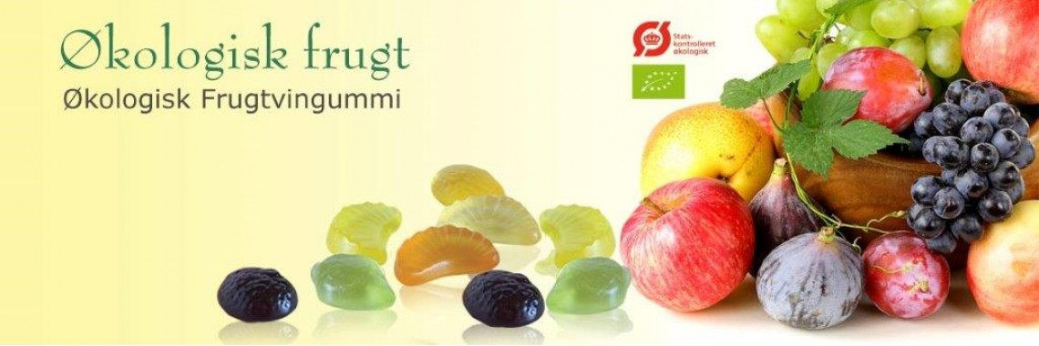 Økologisk frugtvingummi