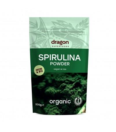 Spirulina pulver økologisk vegan og raw