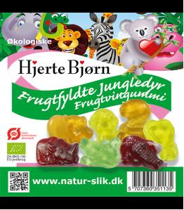 Øko frugtfyldte jungledyr 100 gr