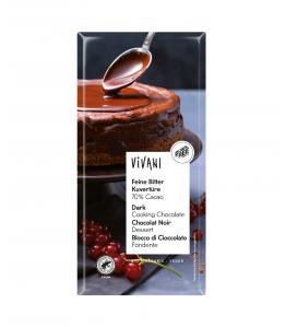 Vivani øko mørk overtræk chokolade 70 %